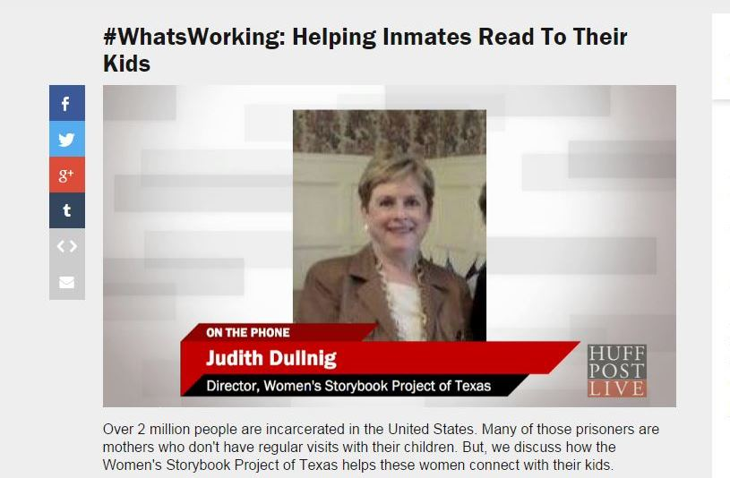 #WhatsWorking: Helping Inmates Read To Their Children – HuffPost Live