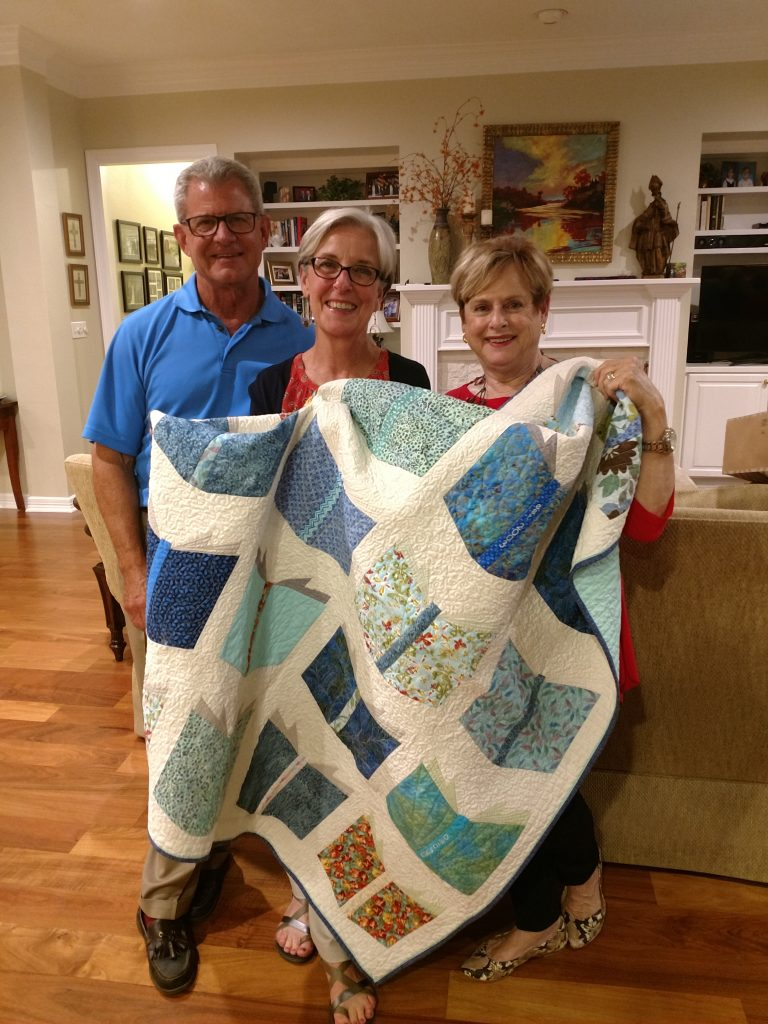 Dugie gifted Judith with a beautiful quilt that night!