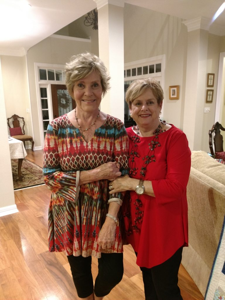 Kathie Hanson, a WSP member of The Reader's Circle, and Judith Dullnig, Founder of WSP