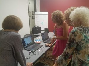 Tech refresher with Jeri Saper and the Lockhart volunteers