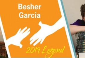 Besher Garcia  receives the Recognize Good Legend Award
